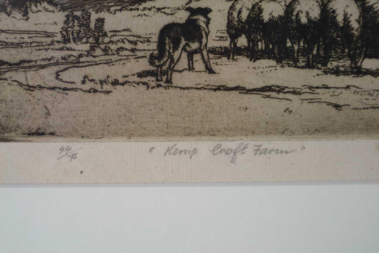 Charles Frederick Tunnicliffe OBE RA (1901-1979) Herding Sheep at Kemps Croft Farm - Image 4 of 4