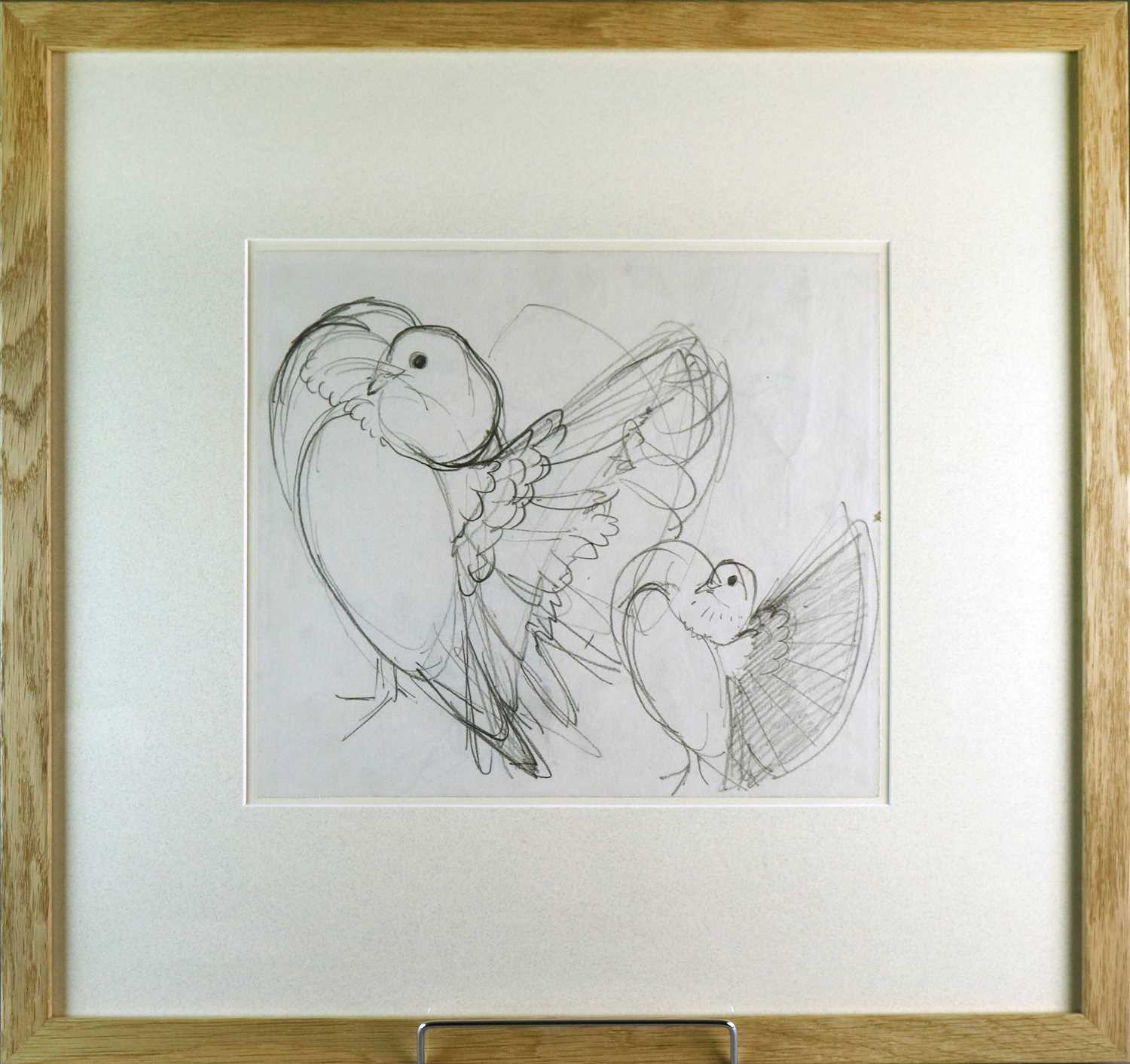 Charles Frederick Tunnicliffe OBE RA (1901-1979) Three Pigeon Drawings inc Exhibition Homer - Image 5 of 8