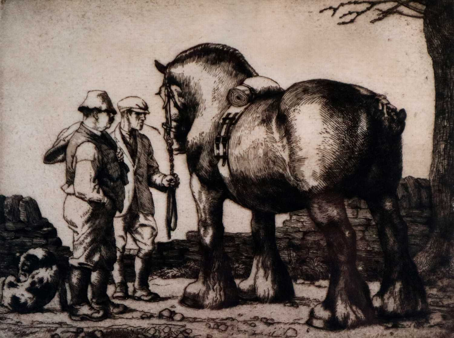 Charles Frederick Tunnicliffe OBE RA (1901-1979) The Stallion