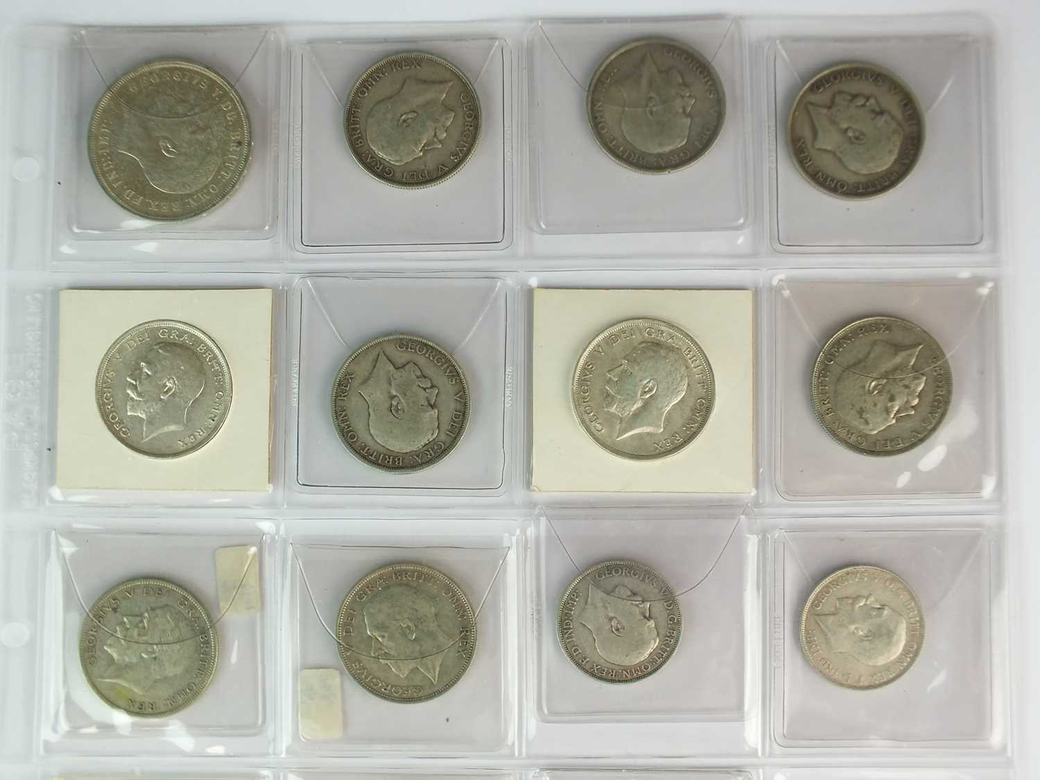 A collection of George V silver coinage