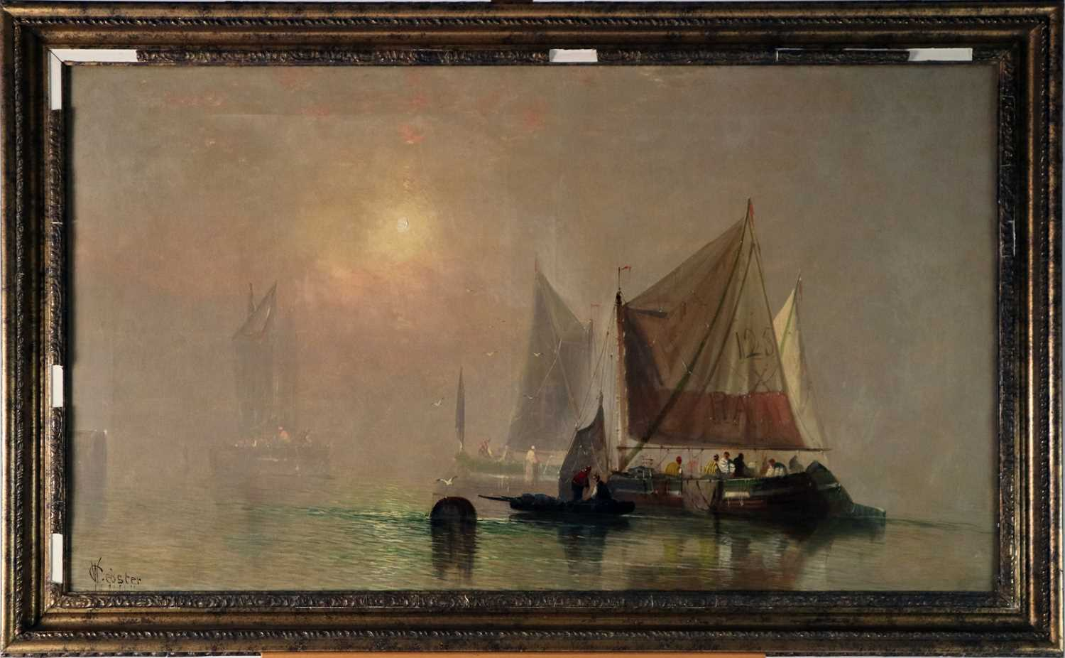 Charles Webster (British 19th Century) Misty Morning Near Grays, Essex - Image 2 of 10