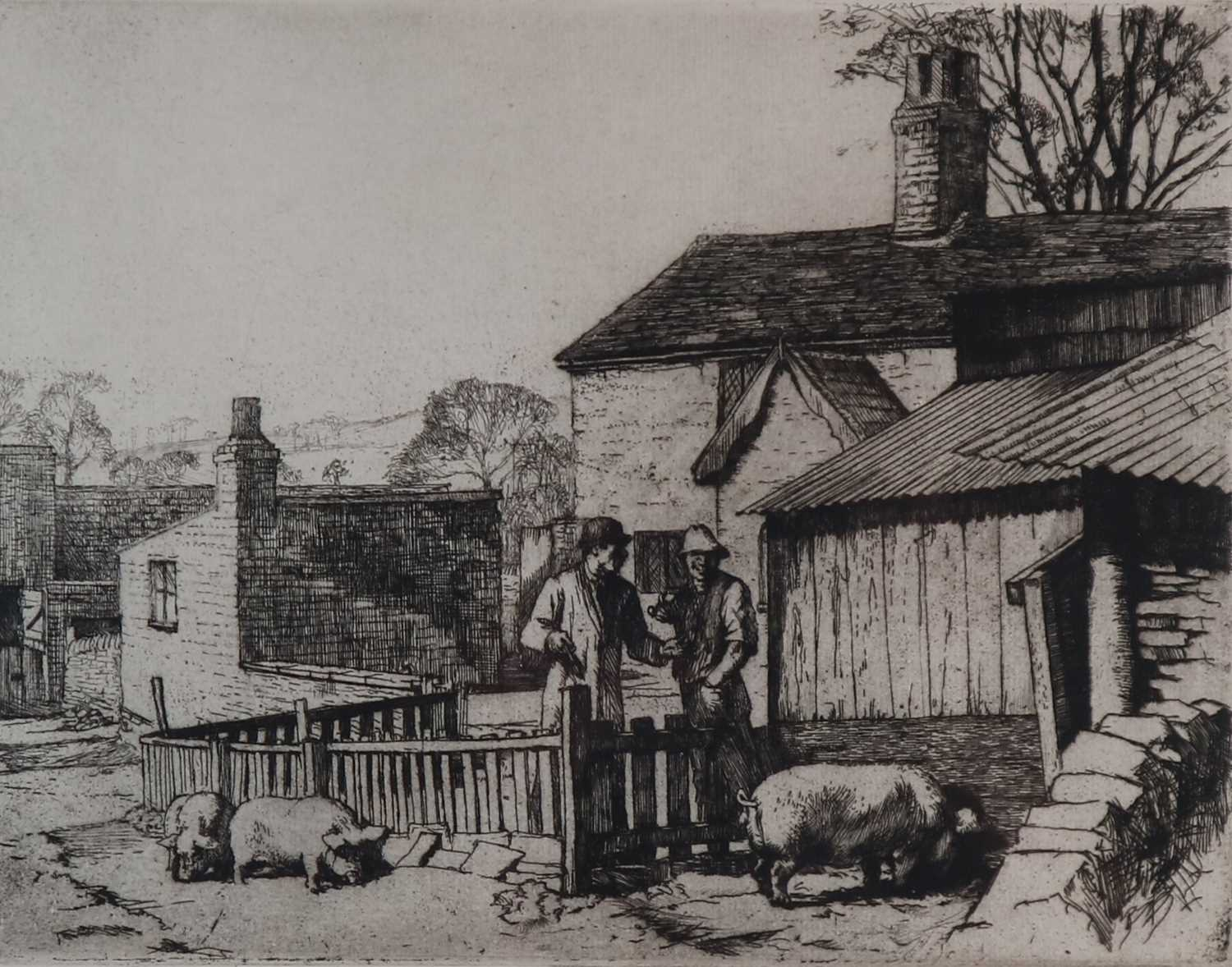 Charles Frederick Tunnicliffe OBE RA (1901-1979) The Pig Dealer