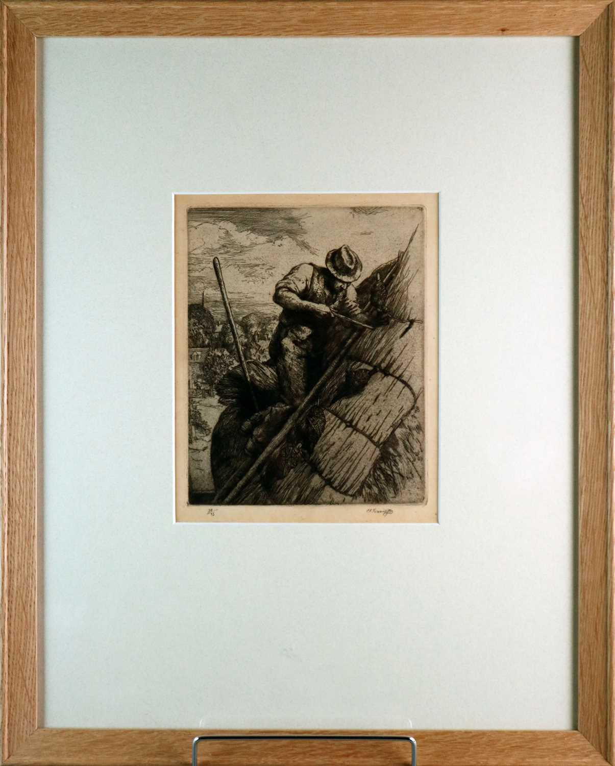 Charles Frederick Tunnicliffe OBE RA (1901-1979) The Thatcher - Image 2 of 4