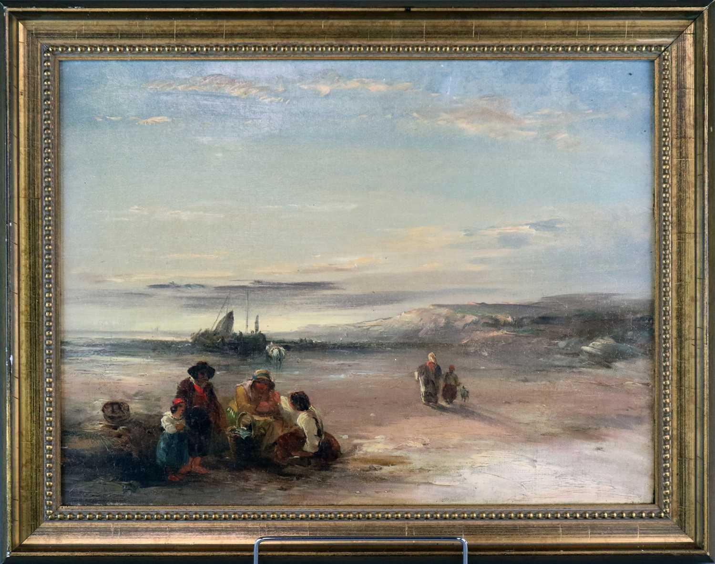 Attributed to Richard Parkes Bonington (British-French 1802-1828) Coastal Landscape - Image 3 of 8