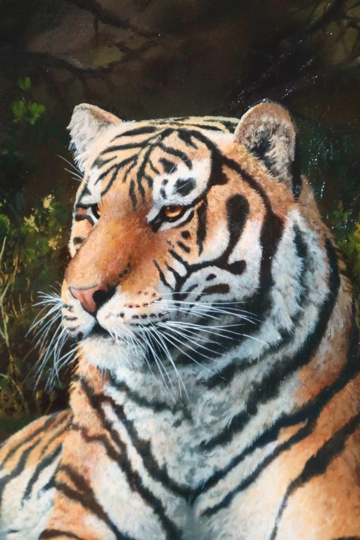 Adrian C Rigby (b.1962) A Tiger Resting - Image 3 of 8