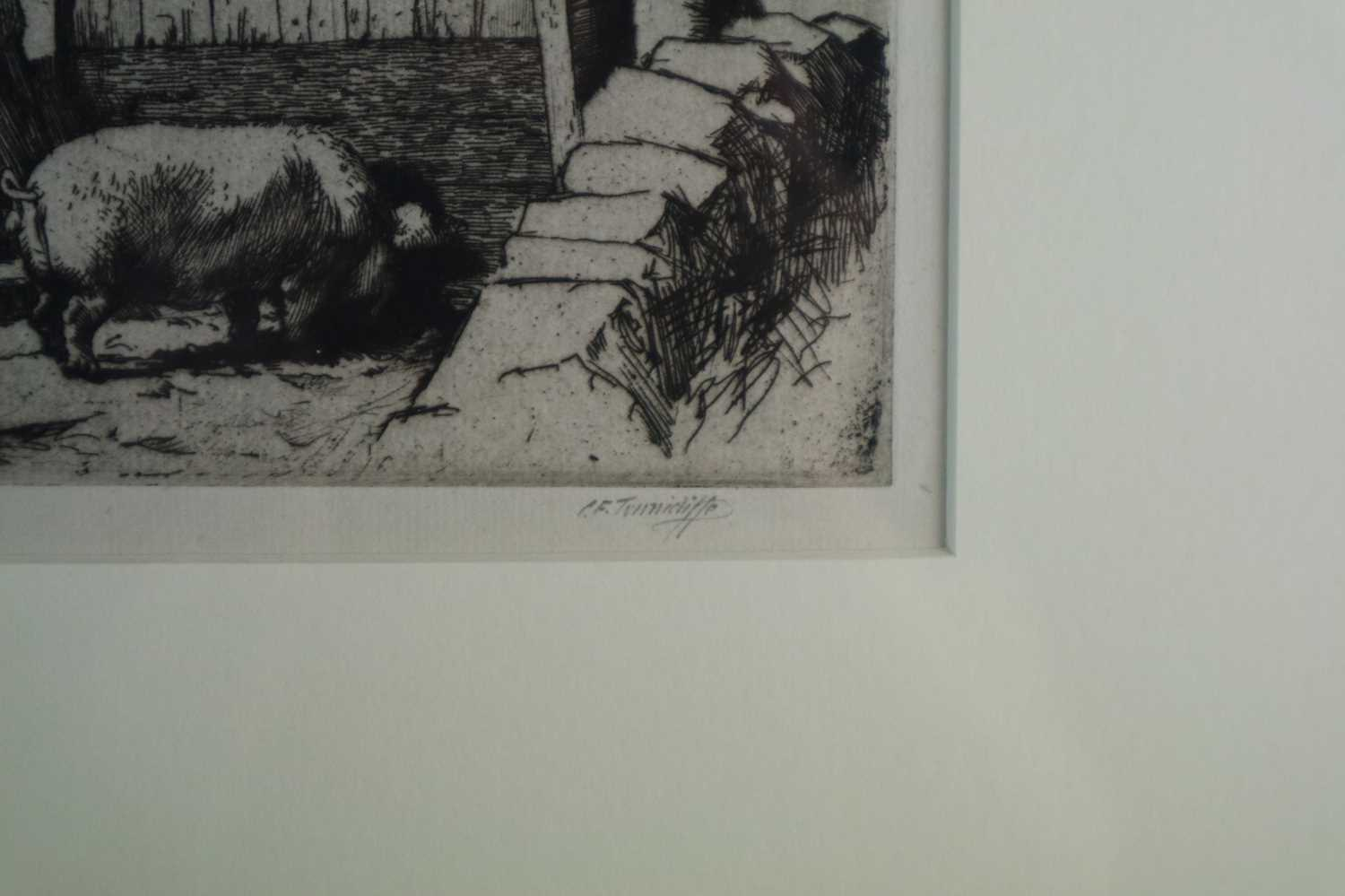 Charles Frederick Tunnicliffe OBE RA (1901-1979) The Pig Dealer - Image 3 of 4