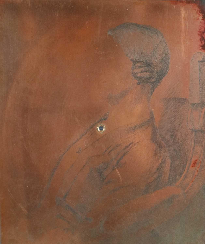 Charles Frederick Tunnicliffe OBE RA (1901-1979) Annie Salaman Copper Plate