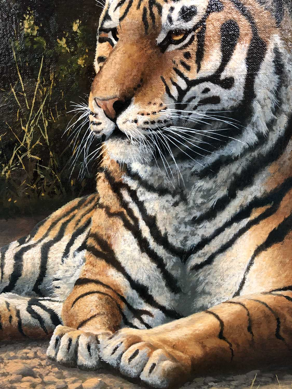 Adrian C Rigby (b.1962) A Tiger Resting - Image 8 of 8