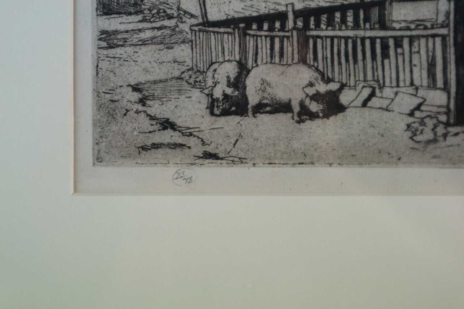 Charles Frederick Tunnicliffe OBE RA (1901-1979) The Pig Dealer - Image 4 of 4