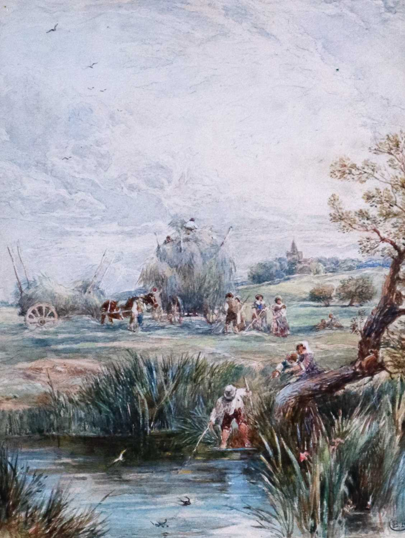 Myles Birket Foster RWS (British 1825-1899) A Rural Harvesting Scene