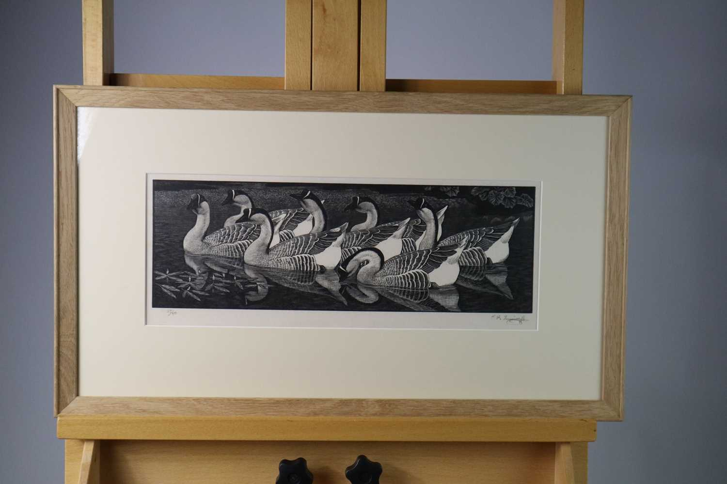 Charles Frederick Tunnicliffe OBE RA (1901-1979) Chinese Geese - Image 3 of 6