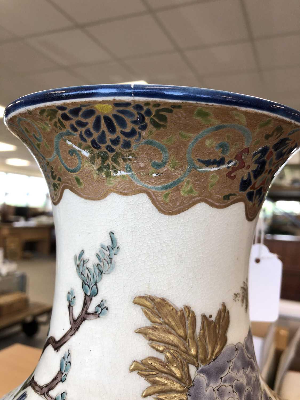 A large Japanese Satsuma vase, Taisho period - Image 4 of 7
