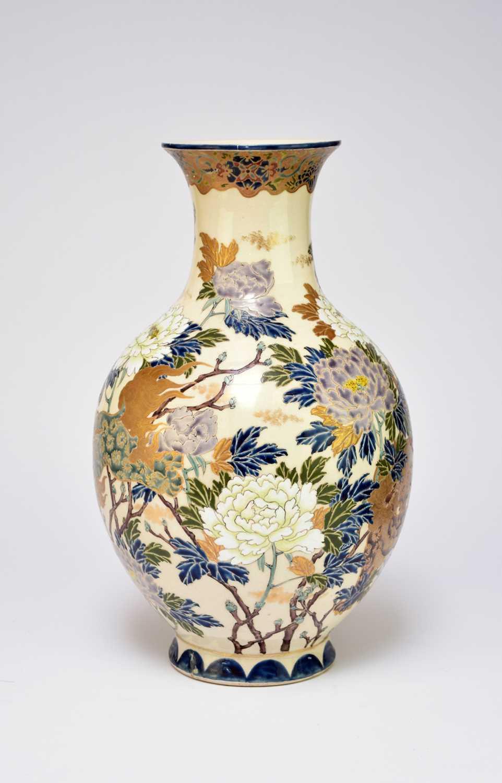 A large Japanese Satsuma vase, Taisho period - Image 2 of 7