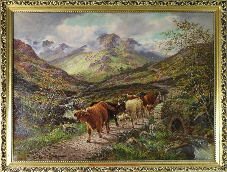 Albert Dunnington (1860-1928) The Road to Lochranza, Arran - Image 2 of 11