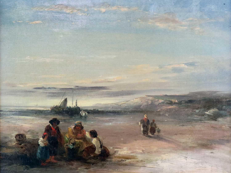 Attributed to Richard Parkes Bonington (British-French 1802-1828) Coastal Landscape