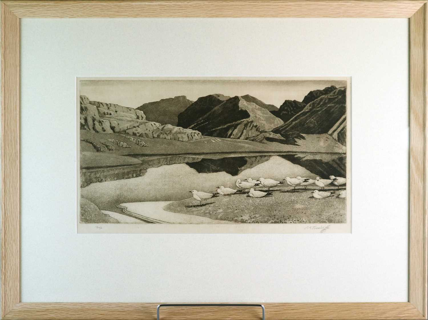 Charles Frederick Tunnicliffe OBE RA (1901-1979) Hebridean Landscape - Image 2 of 4