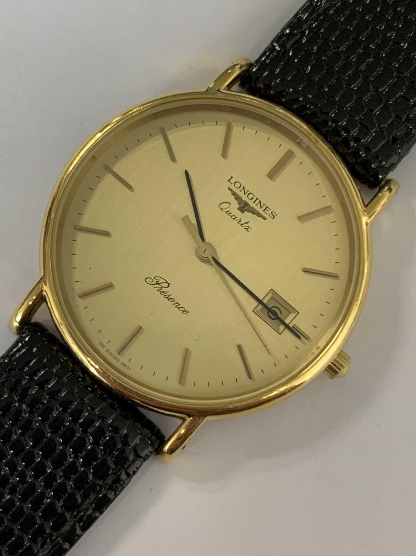 A Gentleman's gold plated Longines Presence quartz wristwatch - Image 4 of 6