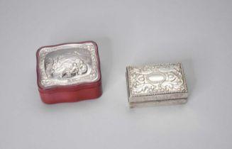 A Victorian silver ring box
