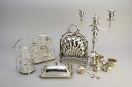 A collection of silver and plated wares