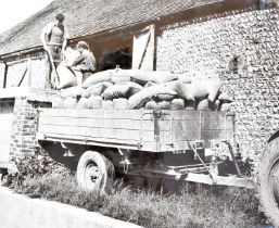 WHITLOCK BROS. Large folio album of farm trailers, early 1905