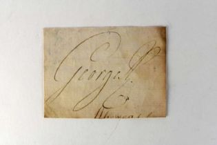 KING GEORGE III (1738-1820), cut signature