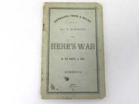BURROWS, Rev R, Extracts from a Diary kept by the Rev R Burrows during Heke's War in the North