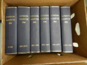 LONDON GAZETTE 1914-1917