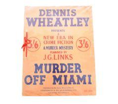 WHEATLEY, Dennis, Murder off Miami. 4to, 1st edition, 1936