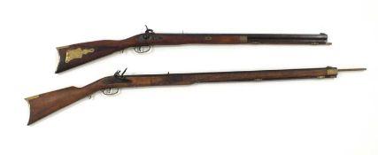 Two Spanish reproduction black powder rifles