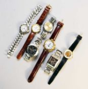A collection of thirteen assorted wristwatches