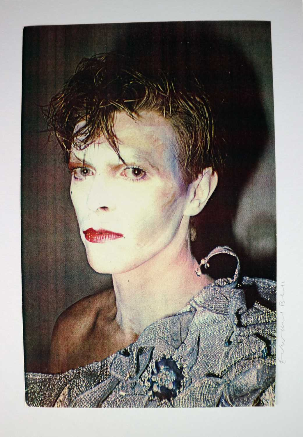 Edward Bell (British Contemporary) Colour Print Bowie in Scary Monsters Makeup - Image 5 of 6