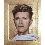 Edward Bell (British Contemporary) David Bowie Golden Icon Portrait