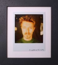 Edward Bell (British Contemporary) David Bowie with Goatee polaroid