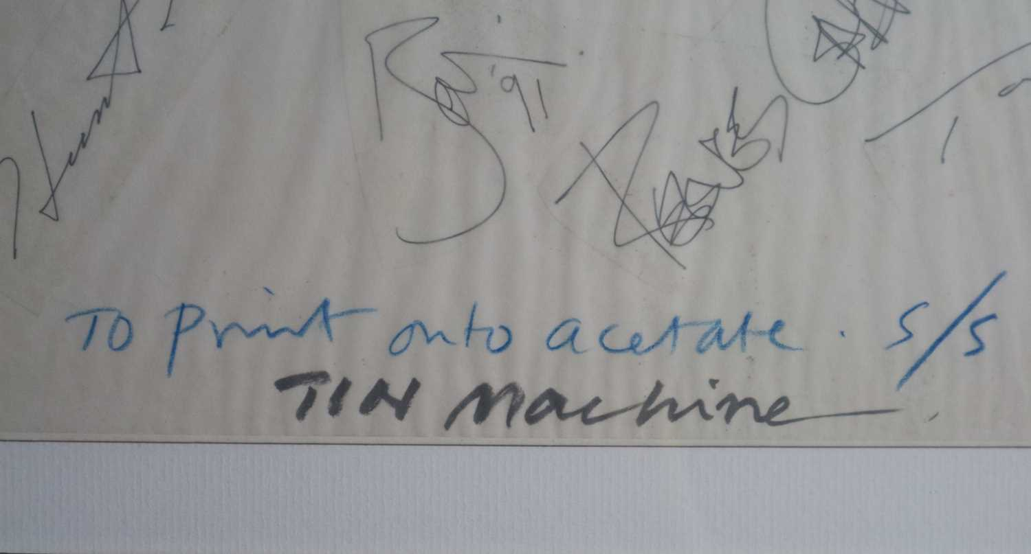 David Bowie and Tin Machine Band Signatures - Image 2 of 8