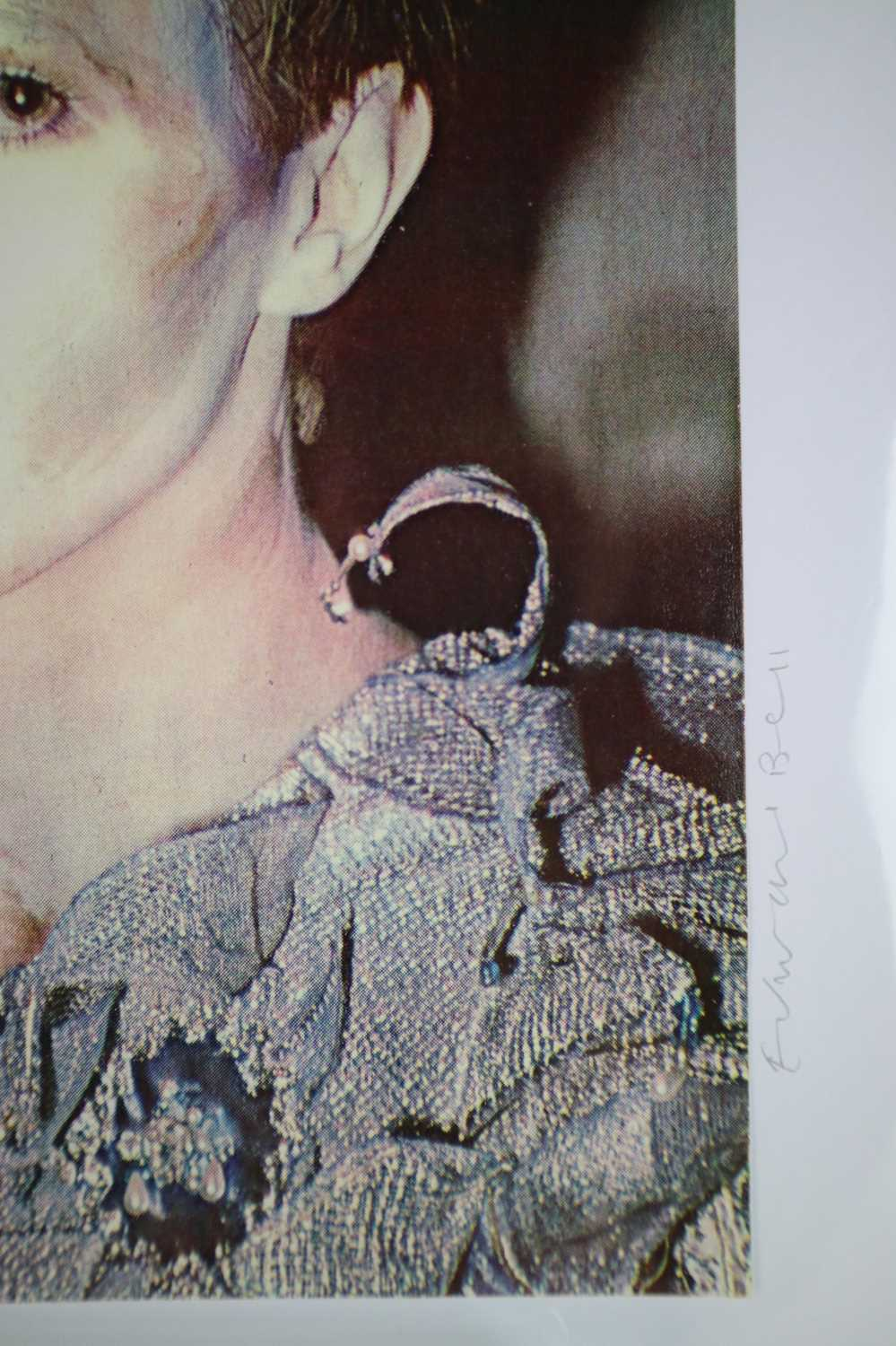 Edward Bell (British Contemporary) Colour Print Bowie in Scary Monsters Makeup - Image 3 of 6