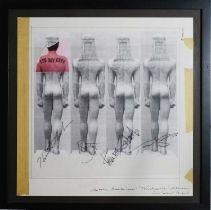 Edward Bell (British Contemporary) Tin Machine Album Cover Verso Design