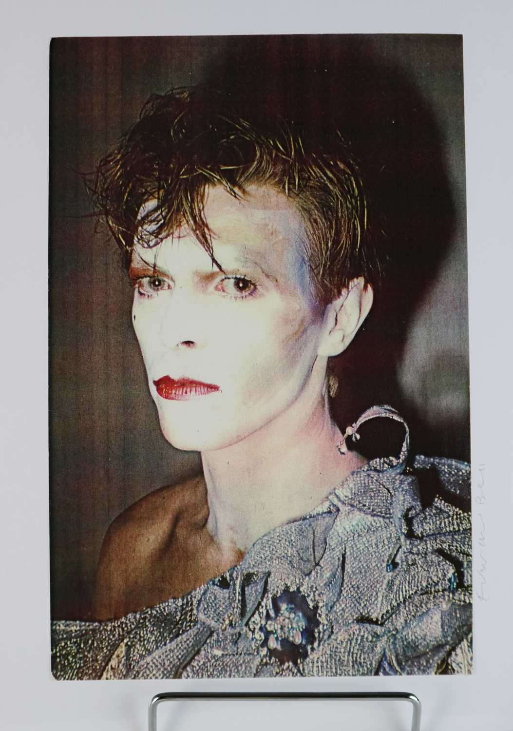 Edward Bell (British Contemporary) Colour Print Bowie in Scary Monsters Makeup - Image 2 of 6