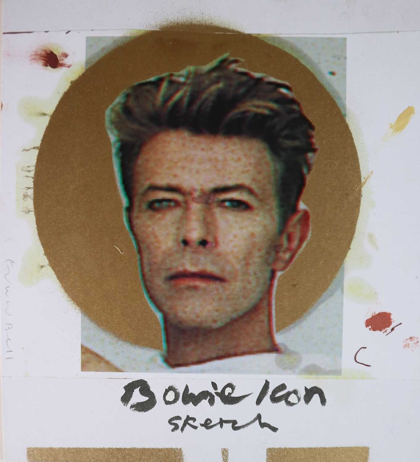 Edward Bell (British Contemporary) Bowie Icon Sketch - Image 3 of 5