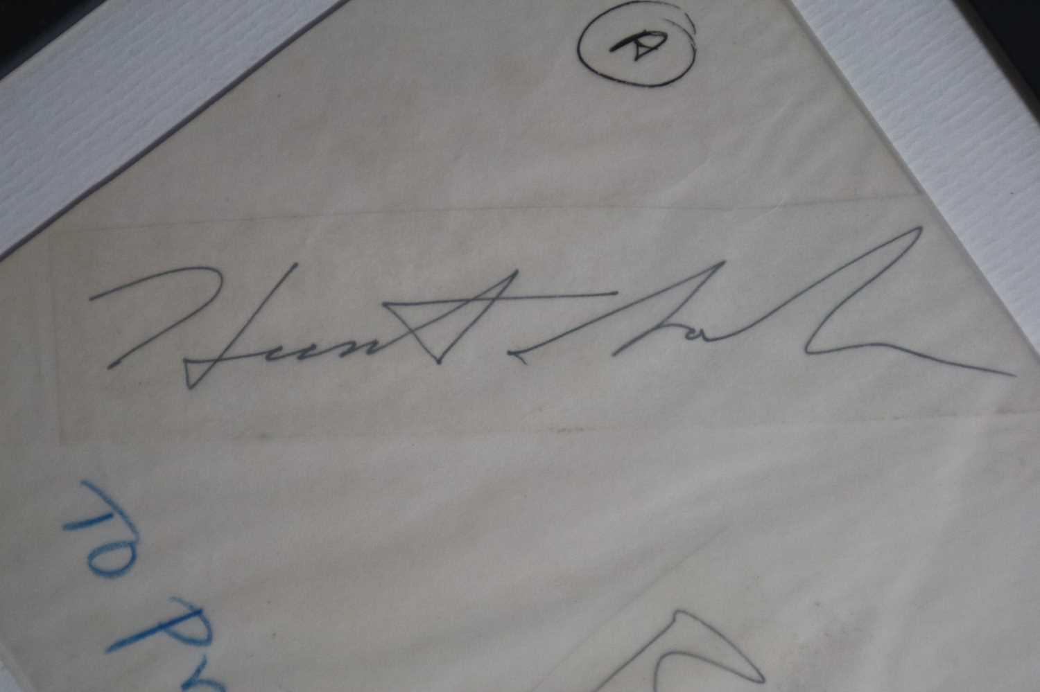 David Bowie and Tin Machine Band Signatures - Image 6 of 8