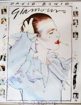 Edward Bell (British Contemporary) David Bowie Glamour Poster