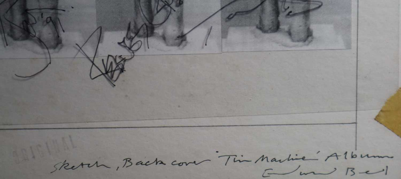 Edward Bell (British Contemporary) Tin Machine Album Cover Verso Design - Image 6 of 6