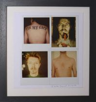 Edward Bell (British Contemporary) Polaroids from Tin Machine Photoshoot