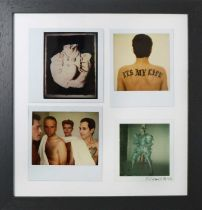 Edward Bell (British Contemporary) Four Polaroids of David Bowie and Tin Machine
