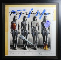 Edward Bell (British Contemporary) Tin Machine Album Cover Design