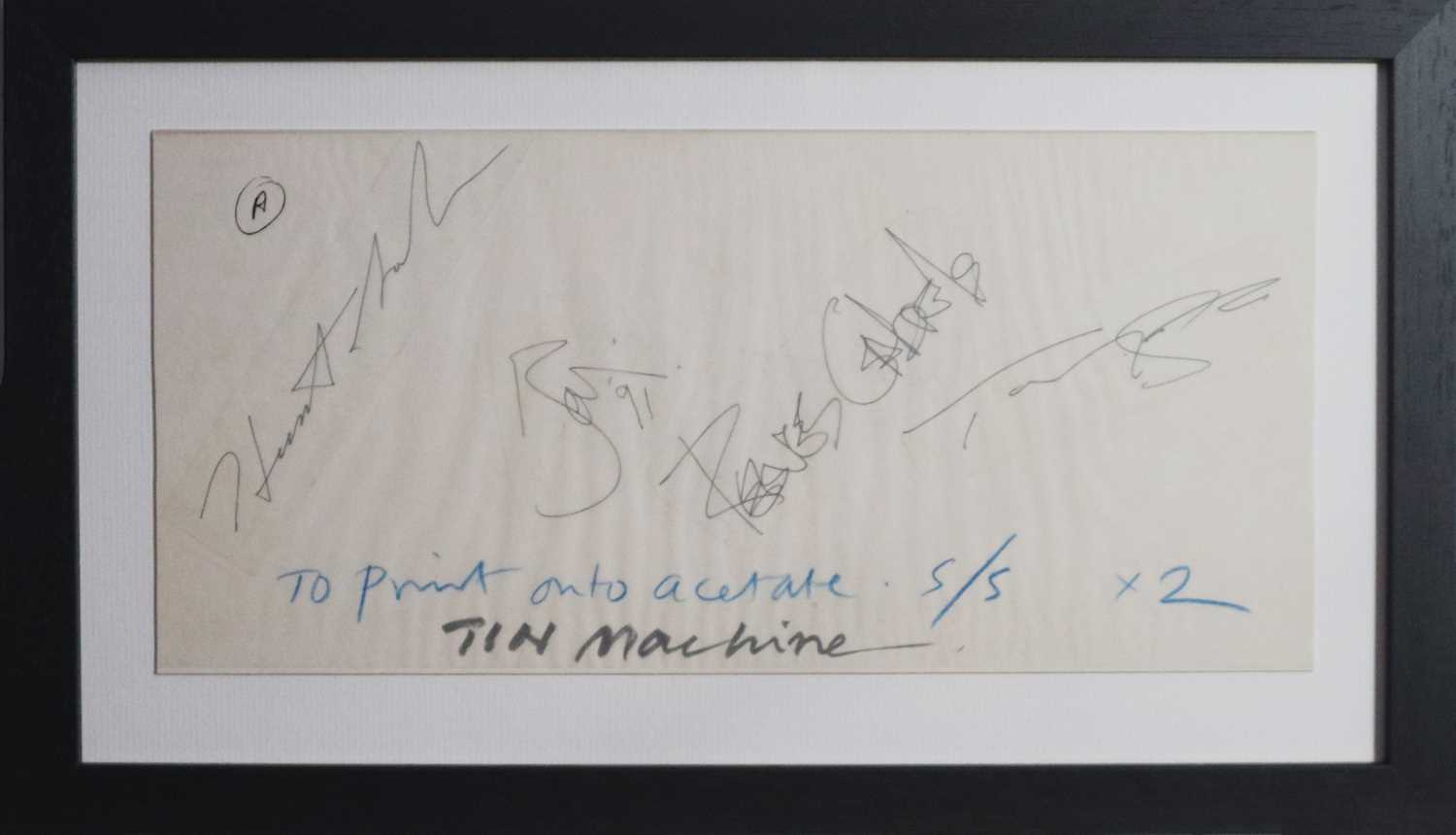 David Bowie and Tin Machine Band Signatures