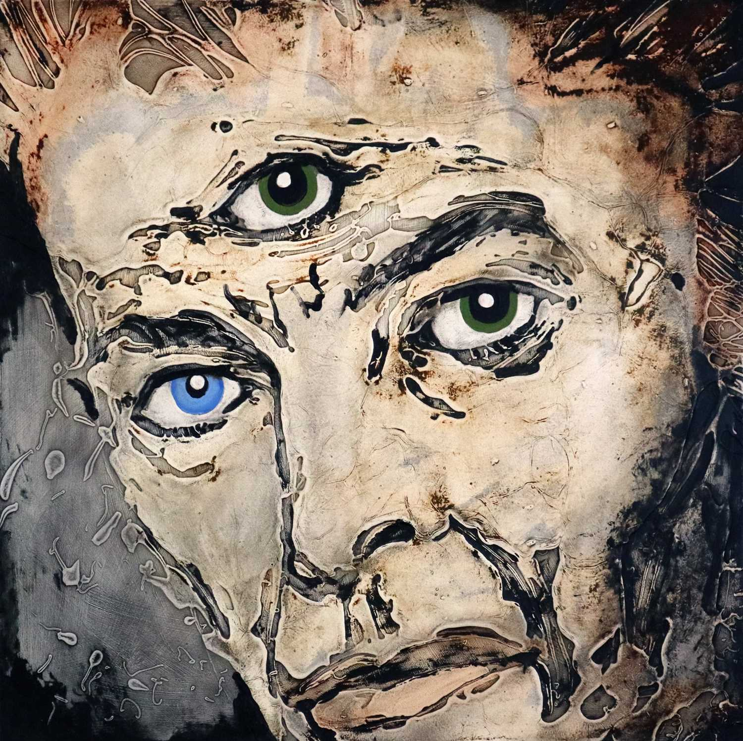 Edward Bell (British Contemporary) David Bowie with a Third Eye