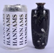 A LOVELY 19TH CENTURY JAPANESE MEIJI PERIOD CLOISONNE ENAMEL VASE possibly from the Workshop of Haya