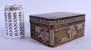 A LARGE 19TH CENTURY JAPANESE MEIJI PERIOD CLOISONNE ENAMEL BOX AND COVER in the manner of Namikawa