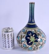A BURMANTOFTS ARTS AND CRAFTS POTTERY VASE painted in the Persian style. 26 cm high.