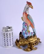 AN 18TH/19TH CENTURY CONTINENTAL PORCELAIN FIGURE OF A STANDING BIRD modelled upon a lovely quality